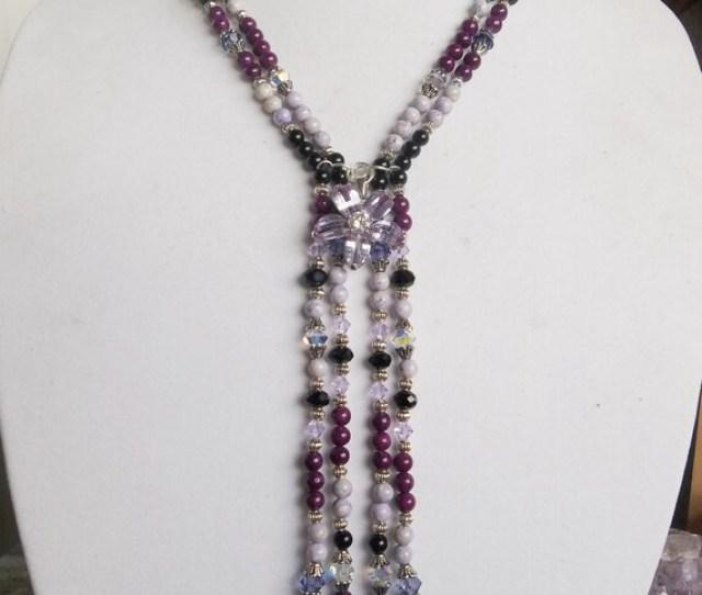 Purple Paradise Long Necklace