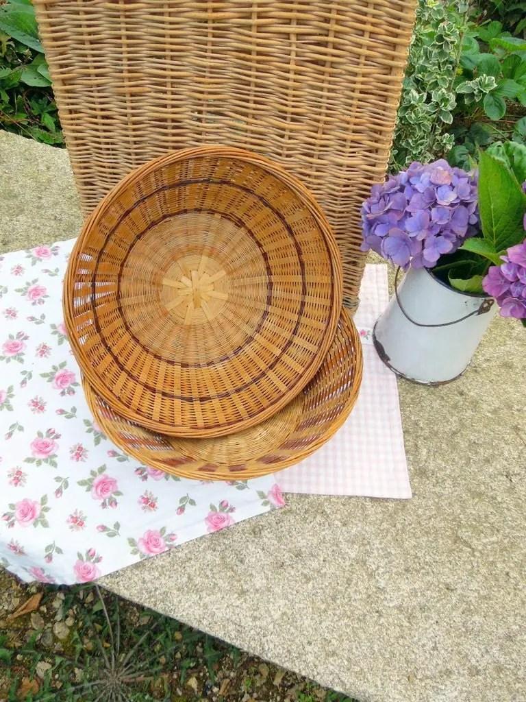 Large bread baskets french vintage vintage wicker bread basket