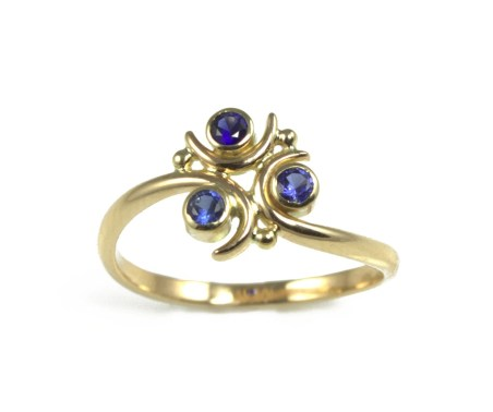 Zora Sapphire Engagement Ring, in 14k Gold - Geeky Ring, Legend of Zelda - Made to Order