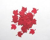100 Red Maple Leaves, Party Decor, Confetti, Canada, Weddings, Showers, Holidays, Thanksgiving - CatchSomeRaes