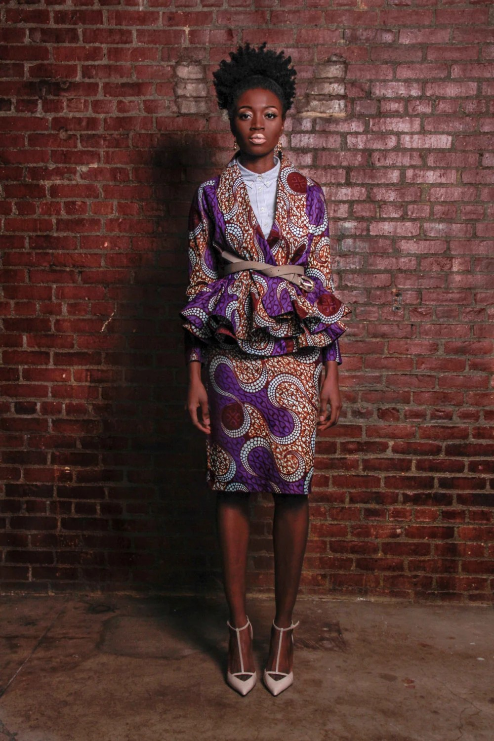 The Patricia- Wrap Cardigan Jacket African Print 100% Holland Wax Cotton