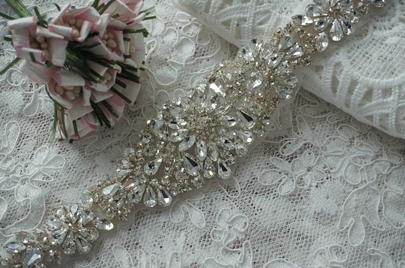 Rhinestone Crystal Wedding Sash Rhinestone Wedding Dress Sash