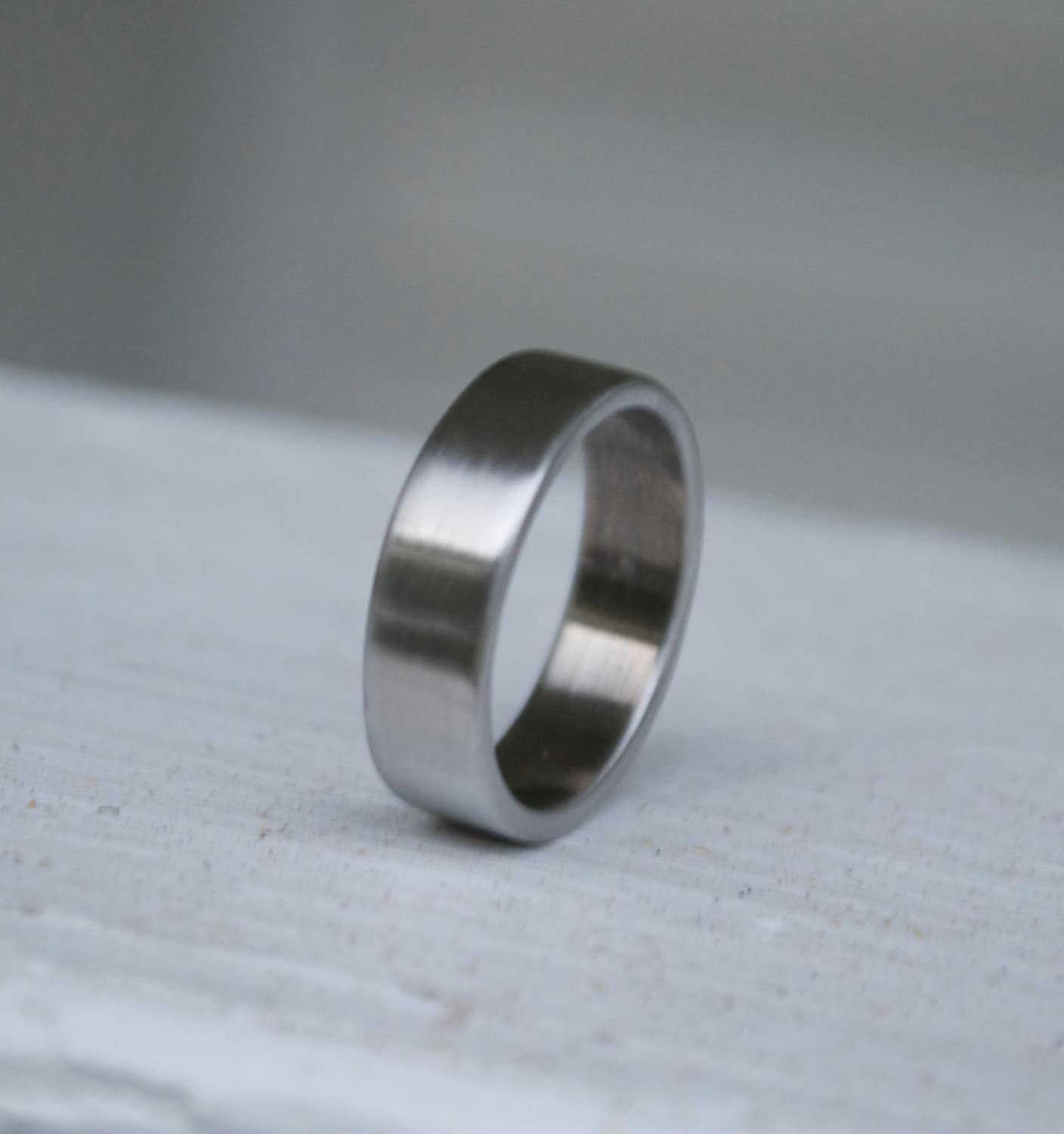 Shotgun Metal Ring Classic Wedding Band Mens And Womens