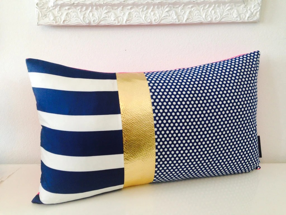 Decorative Throw Pillow Cover 14x24 Lumbar Cushion Vintage