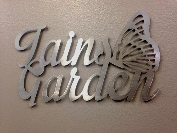 Items Similar To Personalized Metal Garden Art