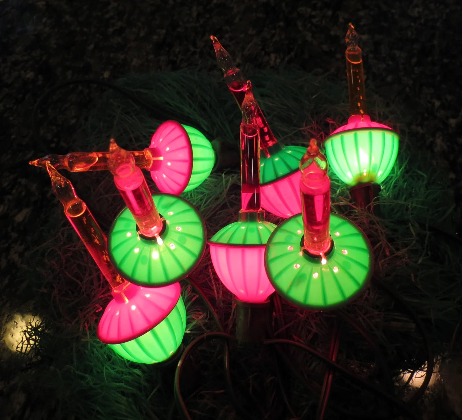 Items Similar To Vintage Bubble Bubbling Lights String Of Christmas Bulbs On Etsy
