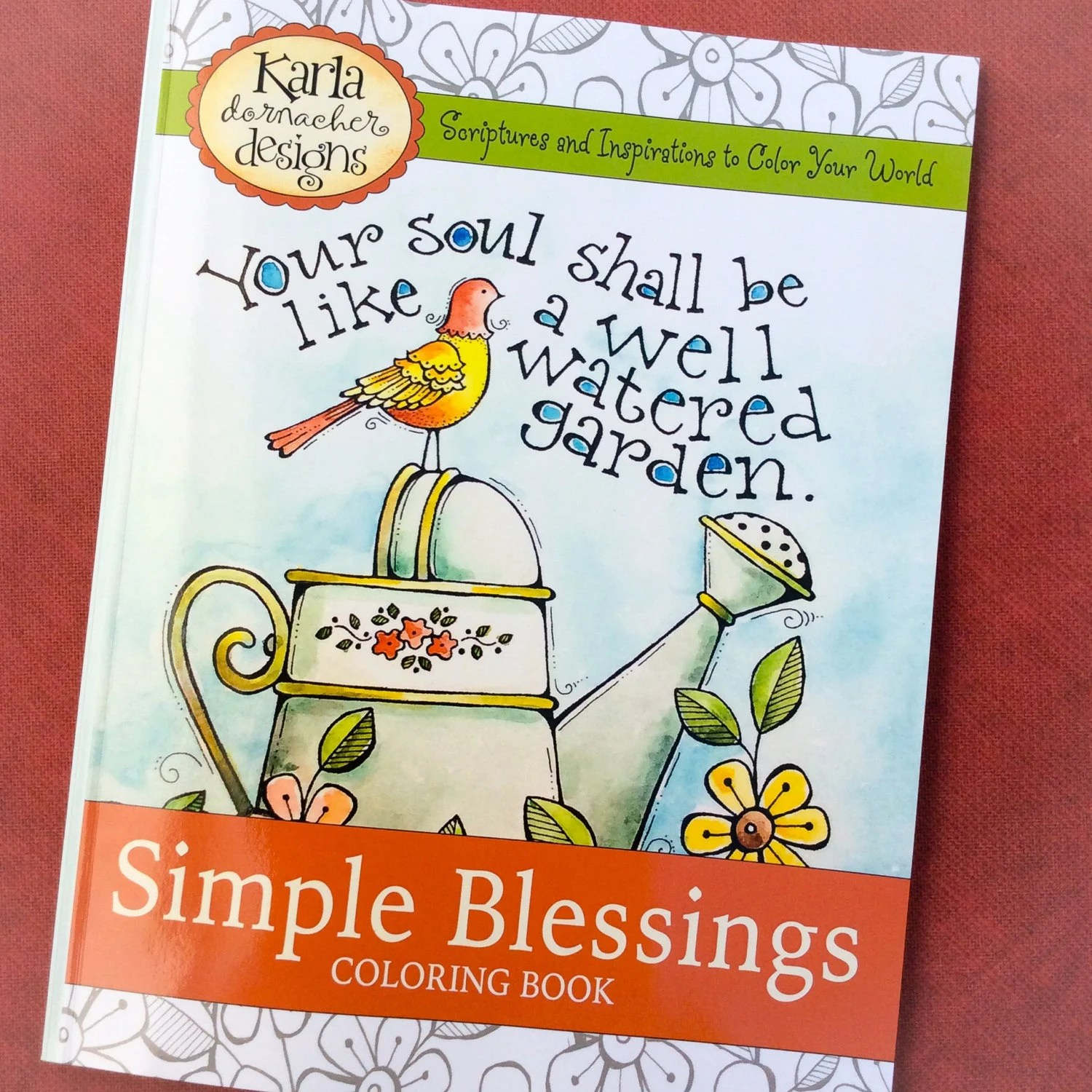 print version simple blessings coloring book by karladornacher