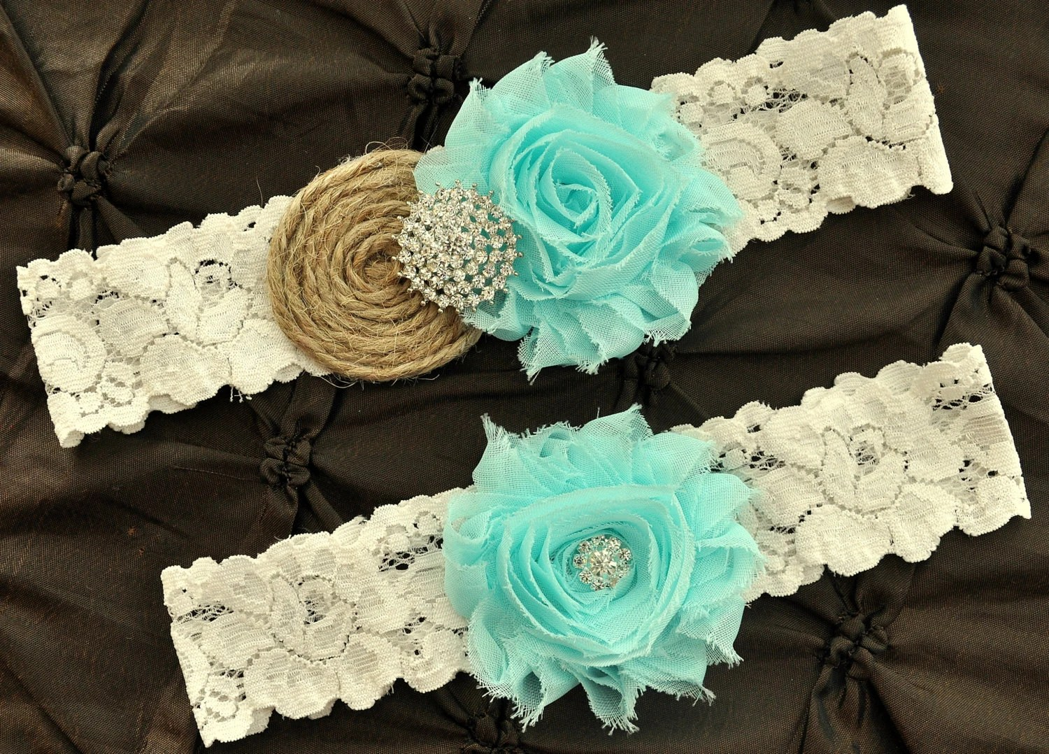 Burlap Rustic Wedding Garter Set Bridal Garter Rustic