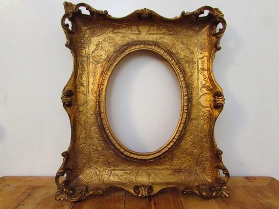 Vintage Rococo Frame Ornate Gold Frame Large Wooden Frame