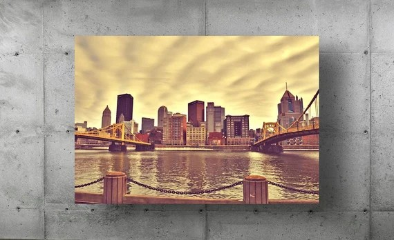 Andy Warhol Bridge & Roberto Clemente Bridges Landscape Photography Pittsburgh Photo Photograph Picture Fine Art