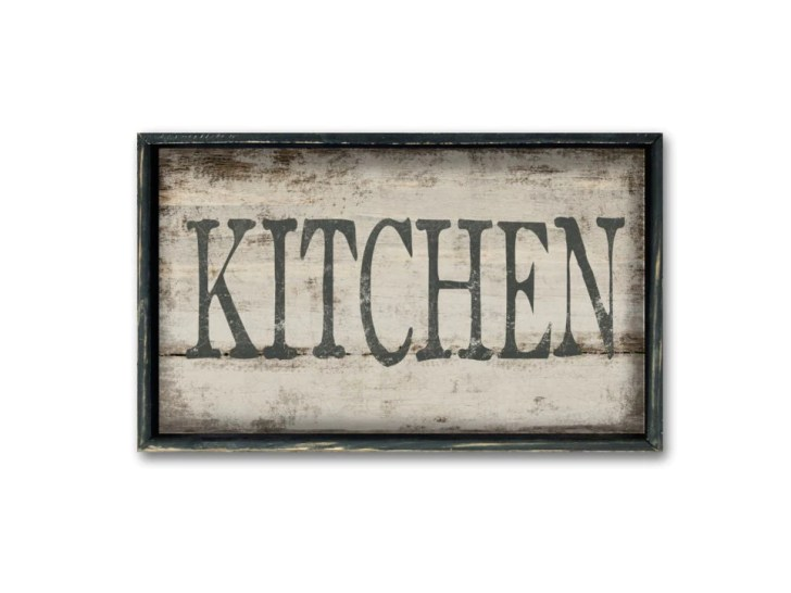 Kitchen Wooden Sign Decor Wall Art Restaurant
