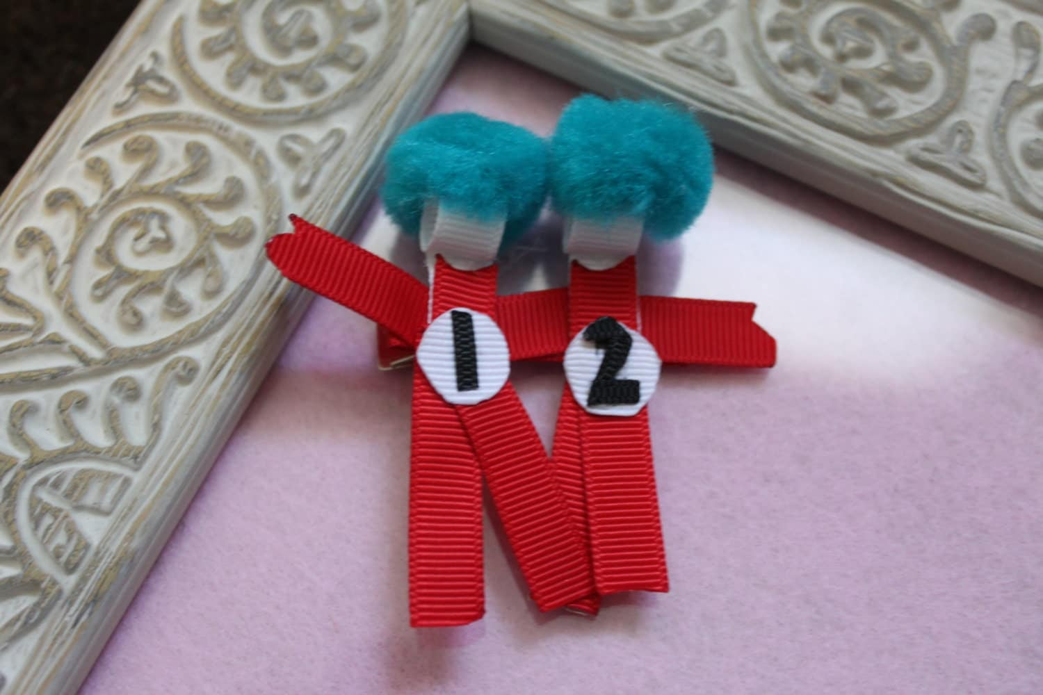Thing 1 And Thing 2 Ribbon Sculpture Hair Clip By Momsomniacsbows