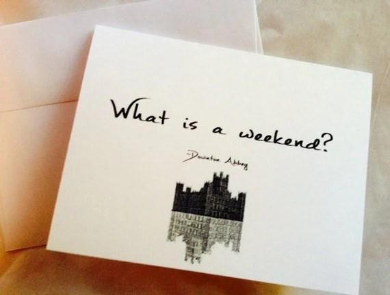 Downton Abbey Notecard