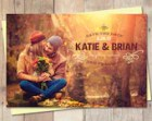 Rustic Save-The-Date, Save The Date Postcard - Sunset