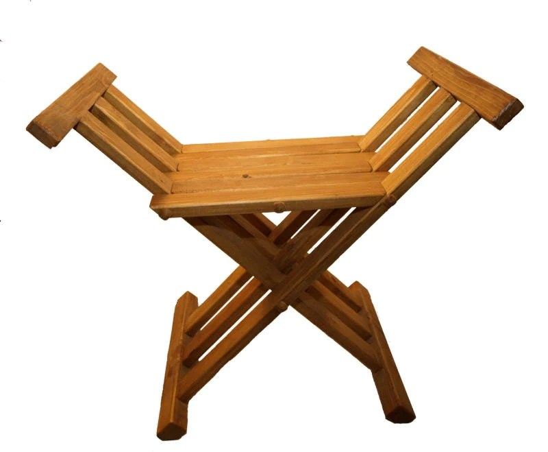 Wooden Medieval Folding Chair