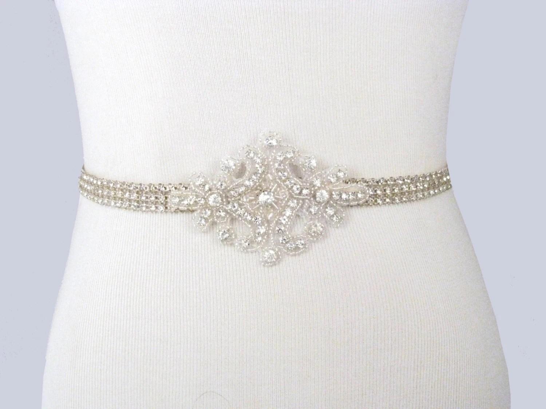 Bridal Sash Rhinestone Wedding Belt Crystal Dress Sash