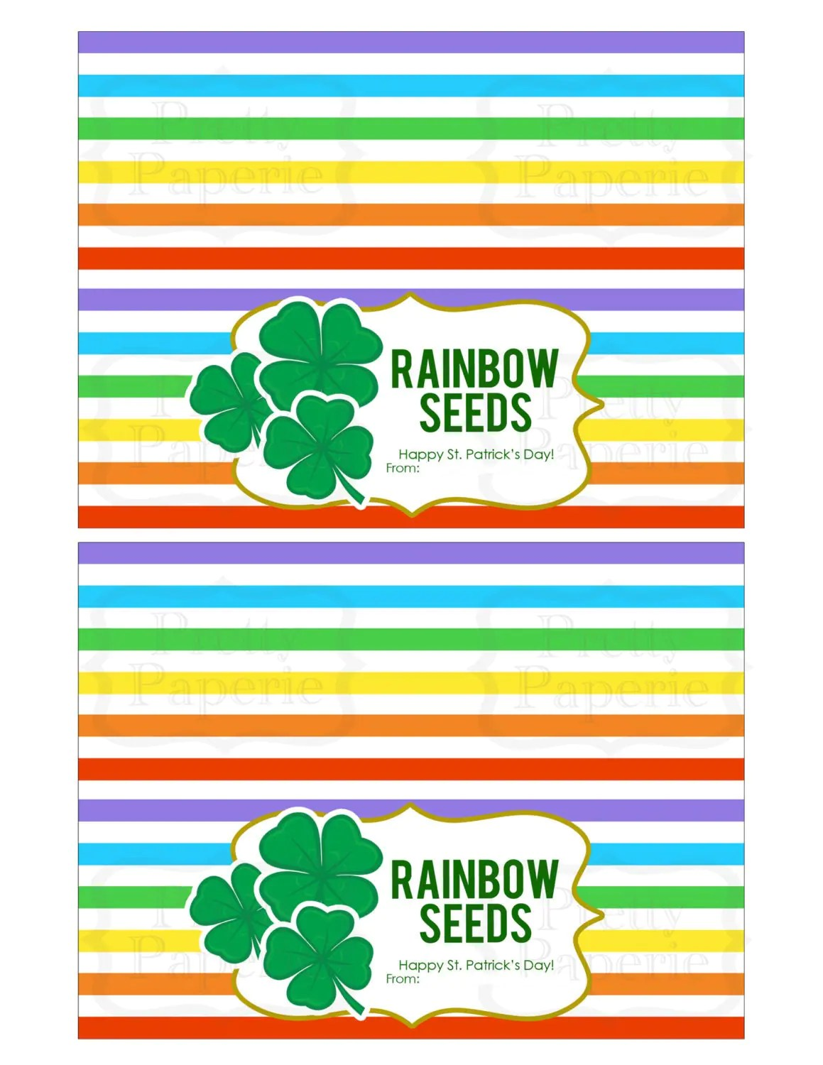 Instant Download St Patrick S Day Treat Bag Tags Rainbow