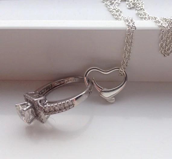 Ring Holder Necklace Wedding Engagement Ring Holder Bridal