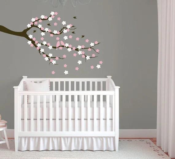 Cherry Blossom Tree Branch Wall Decal by Designedbeginnings