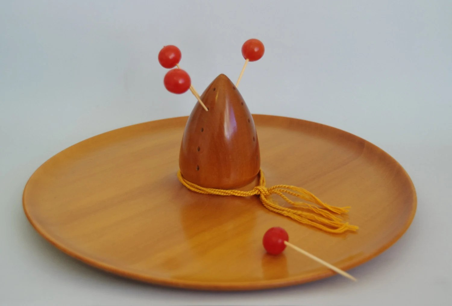 1950s sombrero canape tray platter mexicana serving ware for Canape serving platters