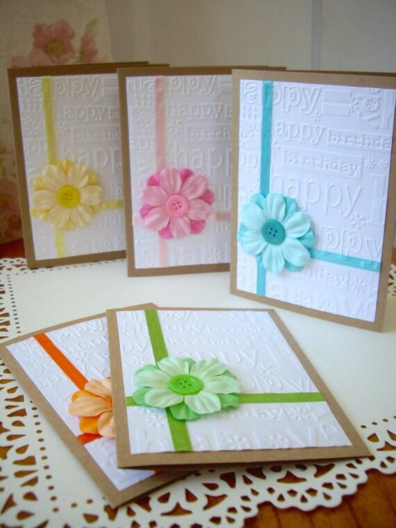Items Similar To Happy Birthday Card Spring Birthday Card