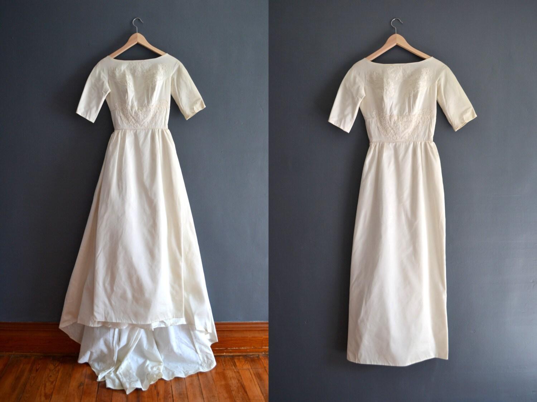 60s Wedding Dress / 1960s Wedding Dress / Thessaly