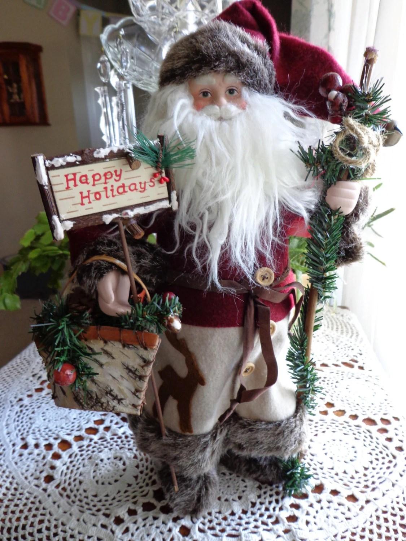 Large Old Fashioned Santa Figure Christmas St Nicholas