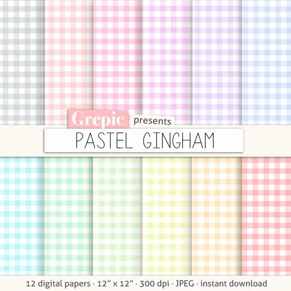 Gingham Digital Paper Pastel Gingham Checkered Paper Checked Paper Lattice Digital Paper Picnic Tablecloth Plaid Pattern Grepic Clip Art Illustrations Digital Paper Scrapbooking Supplies