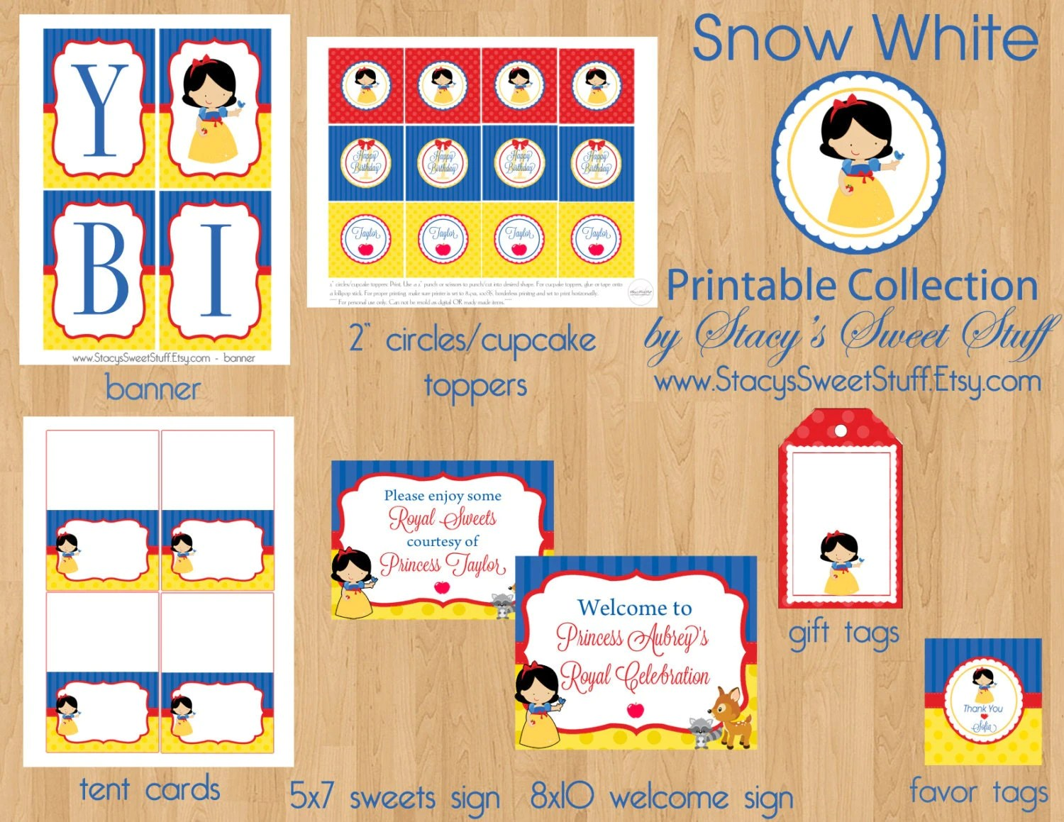 Snow White Inspired Birthday Party Package Diy Printable