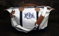 Personalized Monogrammed Canvas Weekender Bag