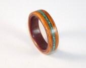 Bent Wood Ring - Padauk w...