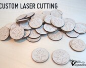 Wooden Tags - custom laser cutting - AsymmetreeDesign