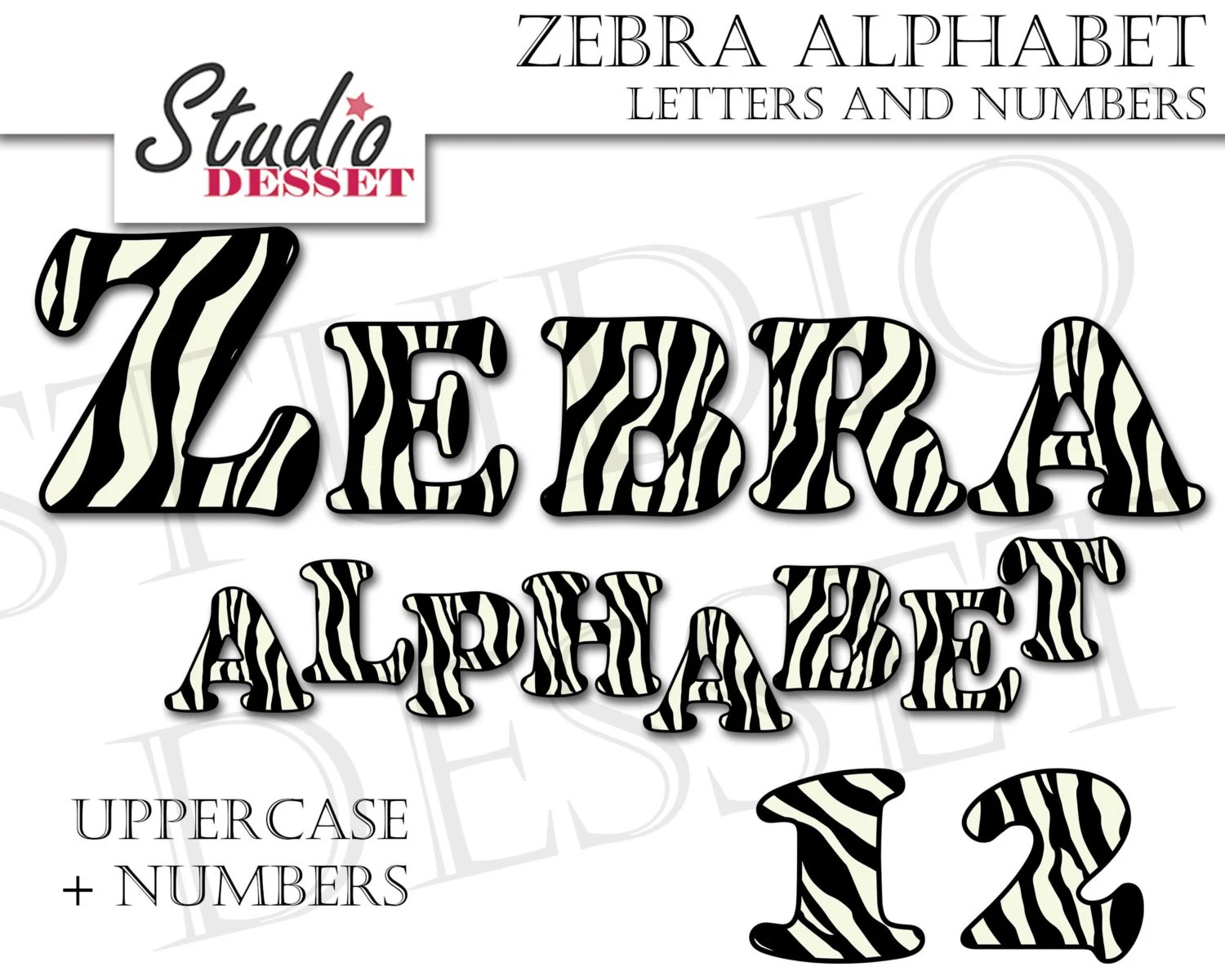 Alphabet Cliparts Zebra Letters And Numbers Abc Clipart