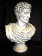 JULIUS CAESAR – A marble bust of the Roman Emperor, after the antique, Italian studio, 1880.