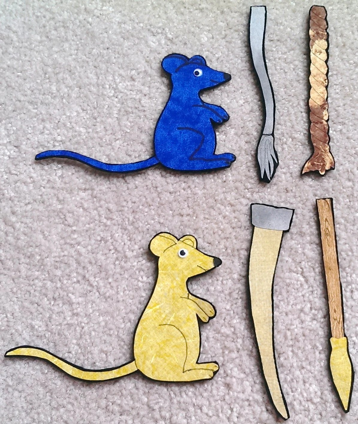 Seven Blind Mice Flannel Felt Board Story By Dmcraftdesigns