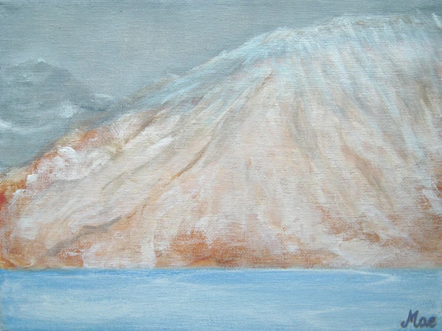 Snowy Mountain Painting Winter Landscape Painting Acrylic