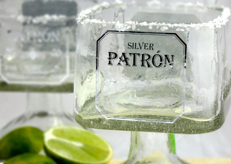 Patron Tequila Bottle Margarita Drinking Glass Large 750ml