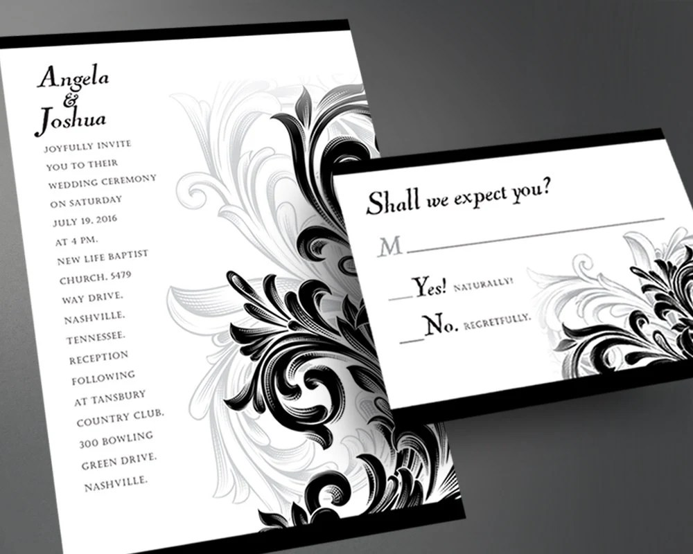 Wedding Invitation PDF, Printable Wedding Invitation, DIY ...