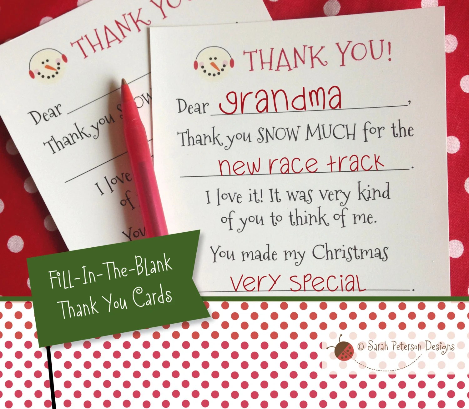Instant Download Printable Winter Fill In The Blank Thank
