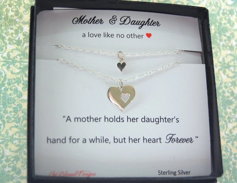 Mother Daughter Necklace Wedding Gift For MOM By