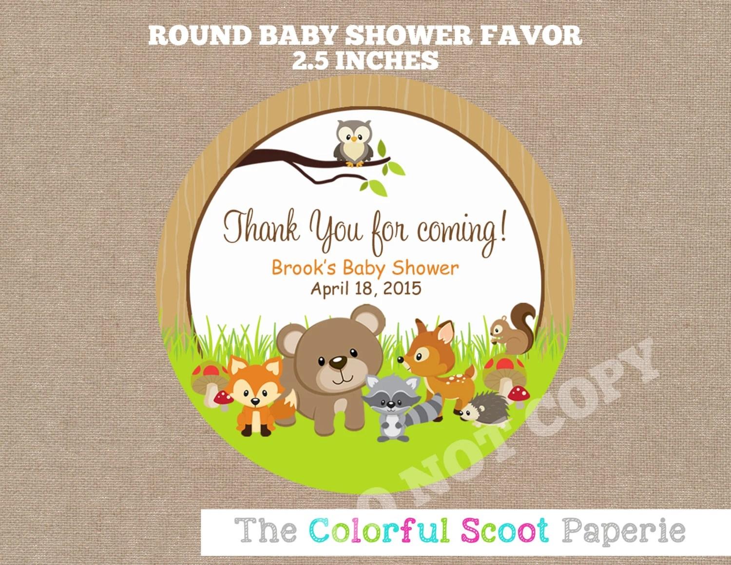 Woodland Animals Shower Favors Woodland Baby Shower Favors