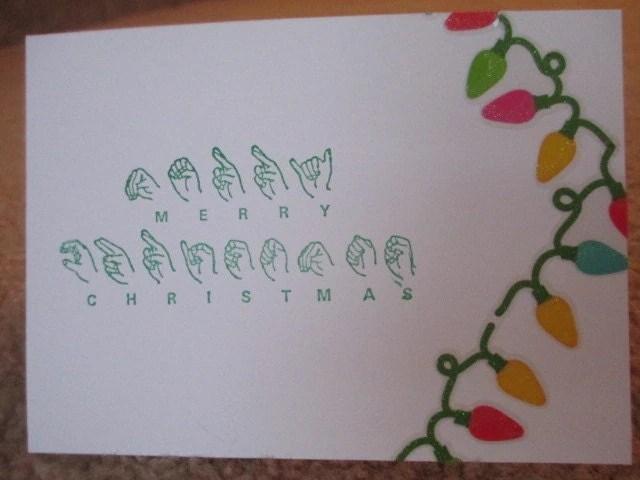 Sign Language Merry Christmas Lights Card By JoyByJanel On