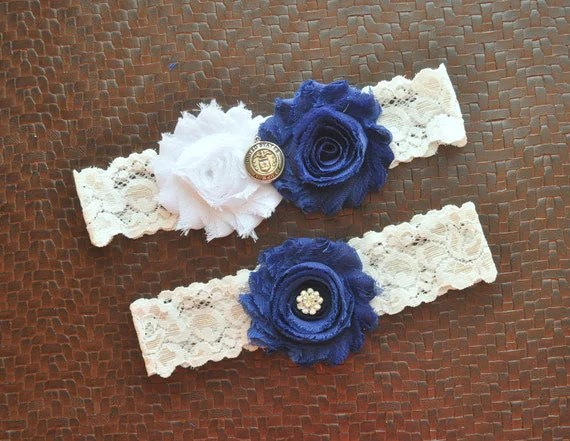 Air Force Wedding Garter Set Air Force Bridal By