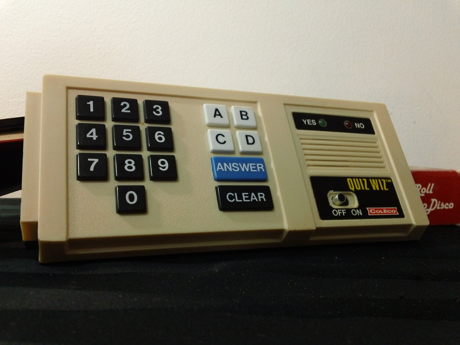 Vintage 80s Coleco Quiz Whiz Electronic Computer Trivia Game
