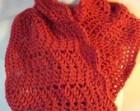 Crochet circle scarf/cowl  perisommon color
