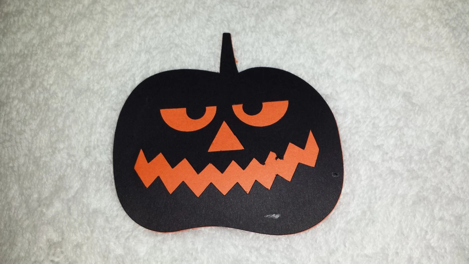 Halloween Jack O Lantern Two Part Paper Cut Out