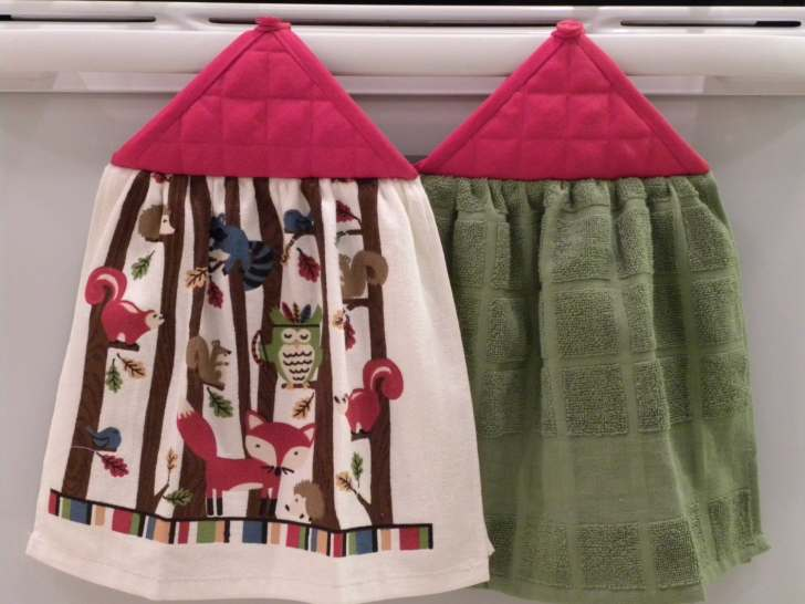 Sets Hanging Kitchen Towels Fall Colors Various Rustic