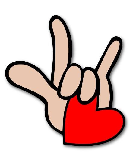Download I Love You in ASL Sign Language SVG Digital by ...