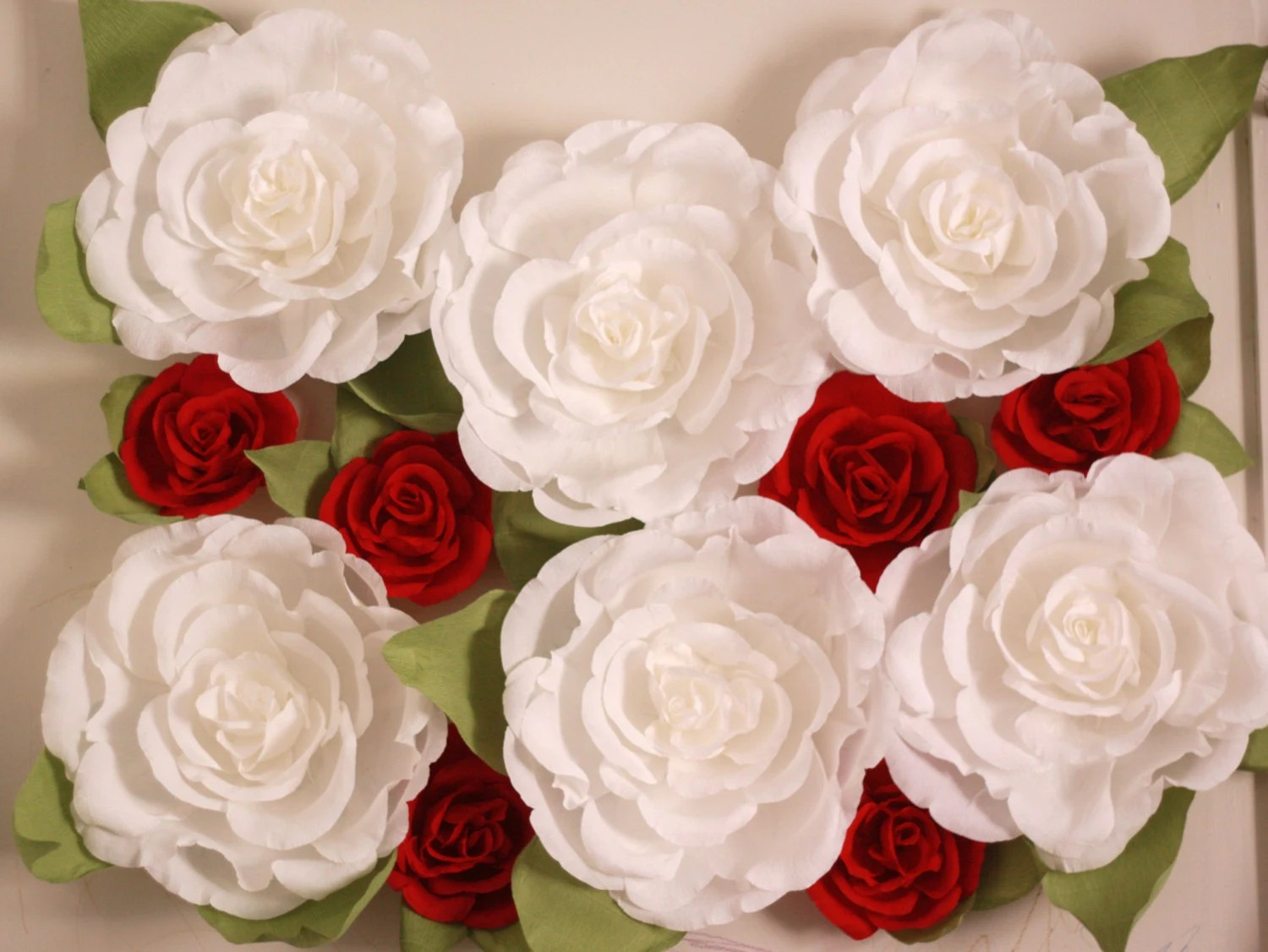 Giant Paper Flower Wall Display. Wedding Backdrop. Shop