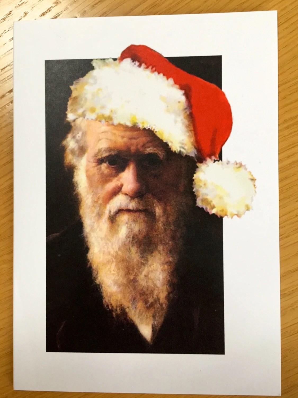 Heathens Greeting Charles Darwin As Father Christmas